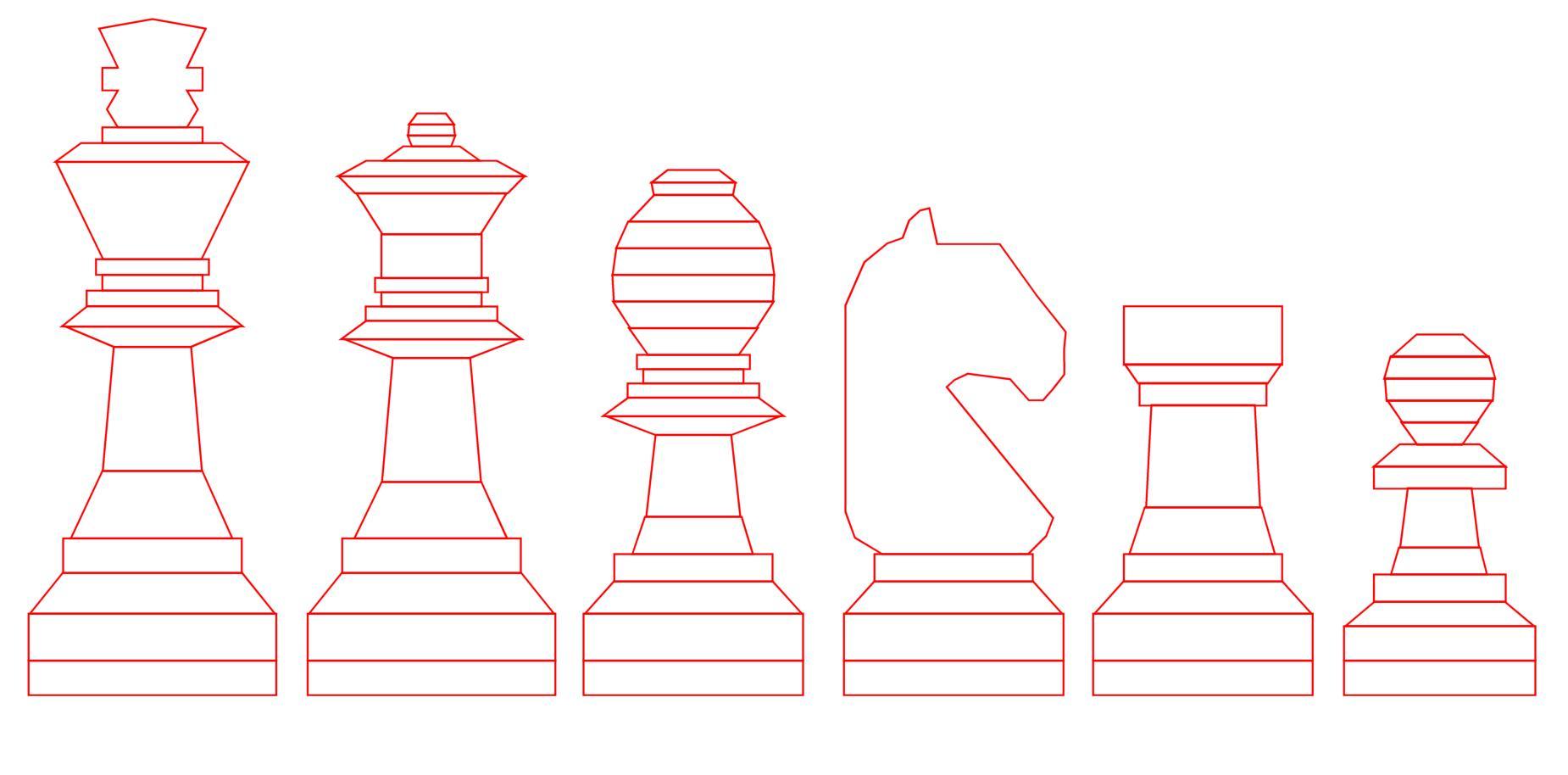 трафареты шахматных фигур фото